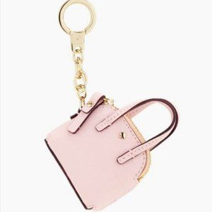 kate spade mini maise keychain keyring light pink